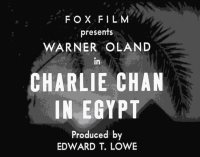 Charlie Chan in Egypt - Originaltitle