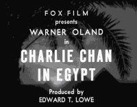 Charlie Chan in Egypt - Originaltitle