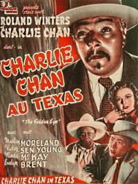 Belgisches Poster - Charlie Chan au Texas