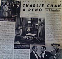 Charlie Chan a Reno - Französisches Magazin 1939