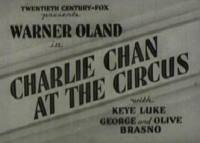 Charlie Chan at the Circus - title