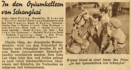 Charlie Chan in Shanghai (Mein Film, Heft 526, 1936, Österreich)