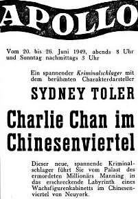 Oberländer Tagblatt 20. Juni 1949 Chinese Cat