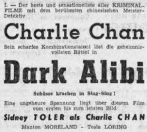 Dark Alibi - Tageblatt, Luxemburg 1947